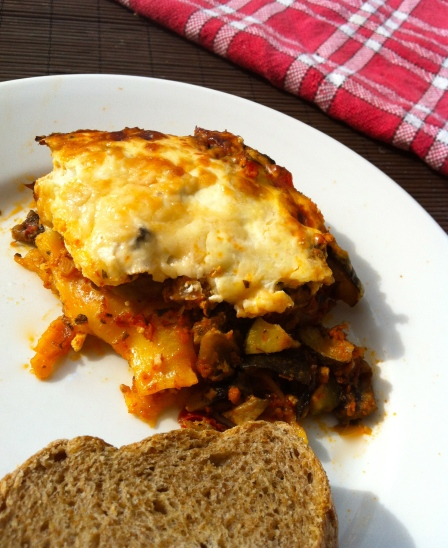 homemade easy vegetarian lasagna