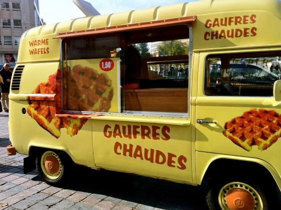 waffle truck in brussels